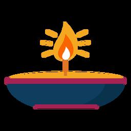 Chama de fogo de vela faísca de placa plana