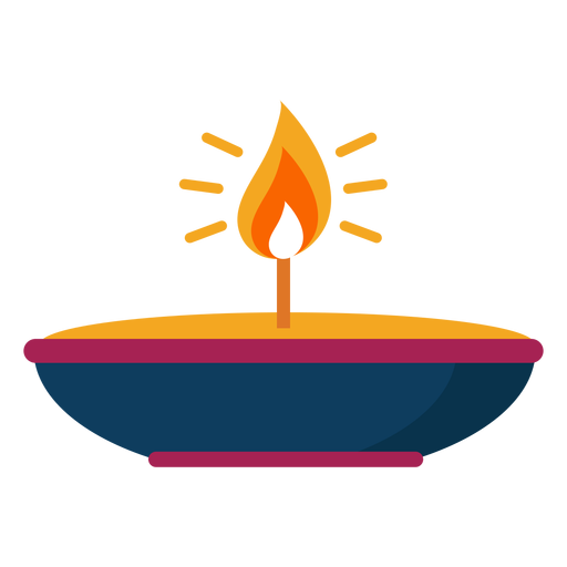 Candle fire flame plate spark flat Transparent PNG
