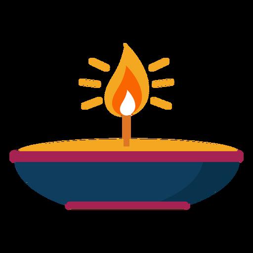 Chama de fogo de vela faísca de placa plana Transparent PNG