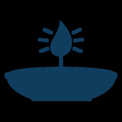 Silhueta de faísca de placa de chama de fogo de vela Transparent PNG