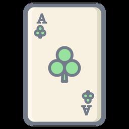 Card Ace Clubs flach