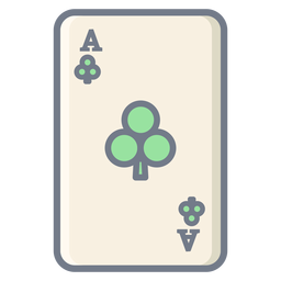 Card ace clubs flat