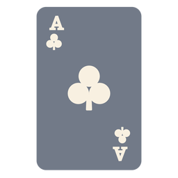 Card ace clubs silhouette