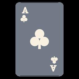 Silhueta de clubes de cartão ace