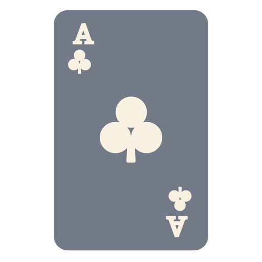 Card ace clubs silhouette Transparent PNG