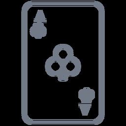 Card Ace Clubs Schlaganfall