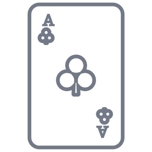 Card ace clubs stroke Transparent PNG