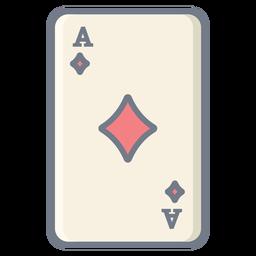 Card-Ace-Diamanten flach