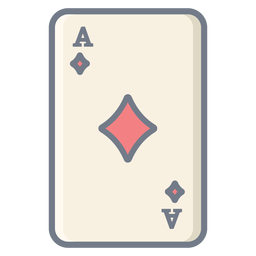 Card ace diamonds flat