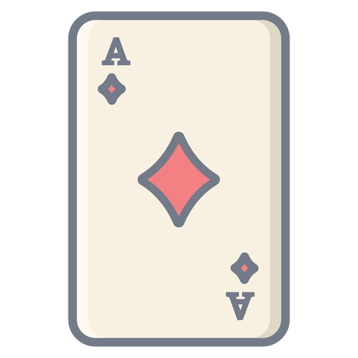 Card ace diamonds flat Transparent PNG