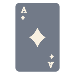 Card ace diamonds silhouette