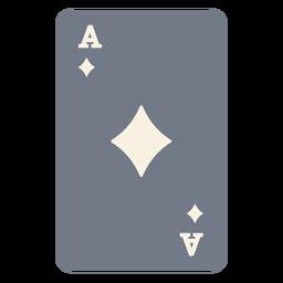 Tarjeta ace diamantes silueta