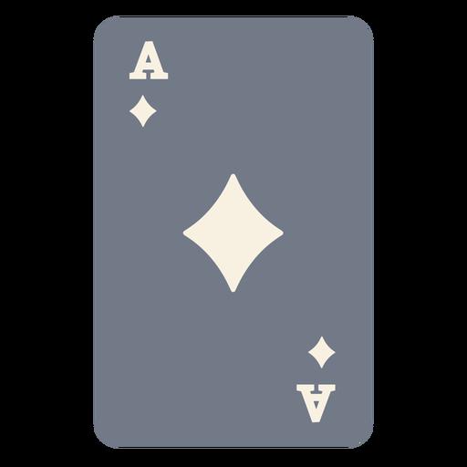Card ace diamonds silhouette Transparent PNG