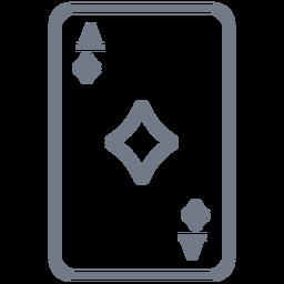 Card Ace Diamonds Strich