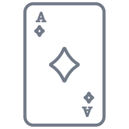 Card ace diamonds stroke