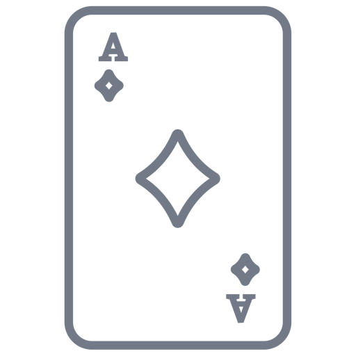 Tarjeta ace diamantes trazo Transparent PNG