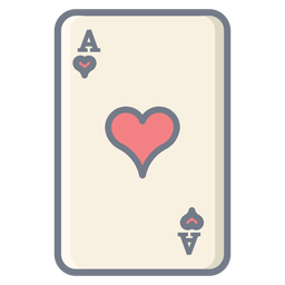 Card ace hearts flat