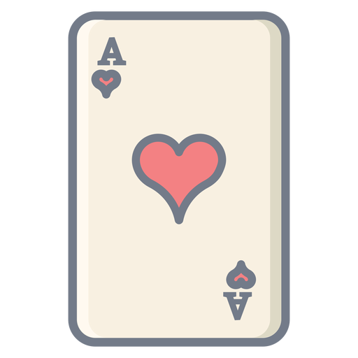 Card ace hearts flat