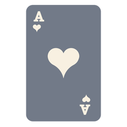 Card ace hearts silhouette