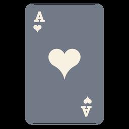 Tarjeta ace corazones silueta