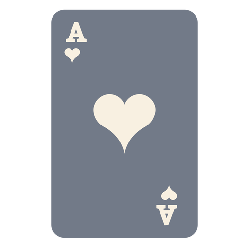 Card ace hearts silhouette Transparent PNG