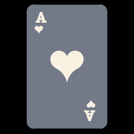 Tarjeta ace corazones silueta Transparent PNG