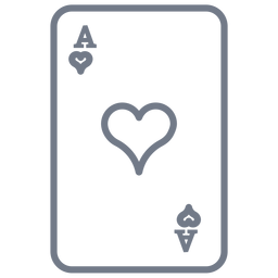 Card ace hearts stroke