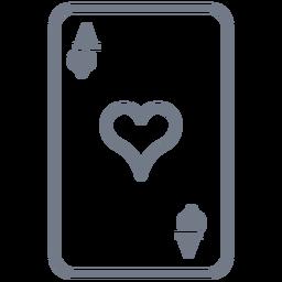 Card Ace Herzen Schlaganfall