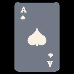 Cartão, ace, pá, silueta