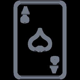 Card ace spade stroke