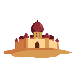 Ilustração de cúpula do Castelo fortaleza