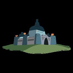 Ilustração de bandeira do castelo fortaleza
