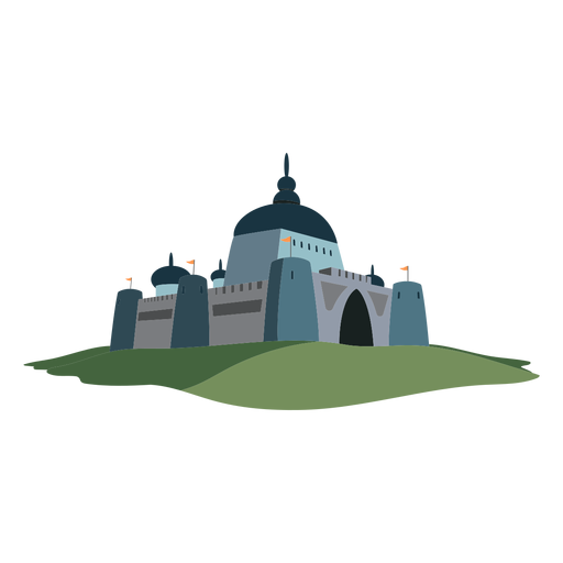 Castle fortress flag illustration Transparent PNG