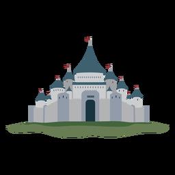 Castelo fortaleza palácio bandeira ilustração