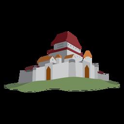 Ilustração de torre fortaleza do castelo