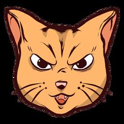 Cat bozal ingenioso artfulness bigotes oreja ilustración