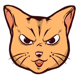 Kunstvolle Artfulness-Bärteohrillustration der Katzenmündung