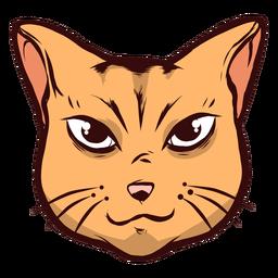 Focinho de gato atento ilustração de orelha de whisker