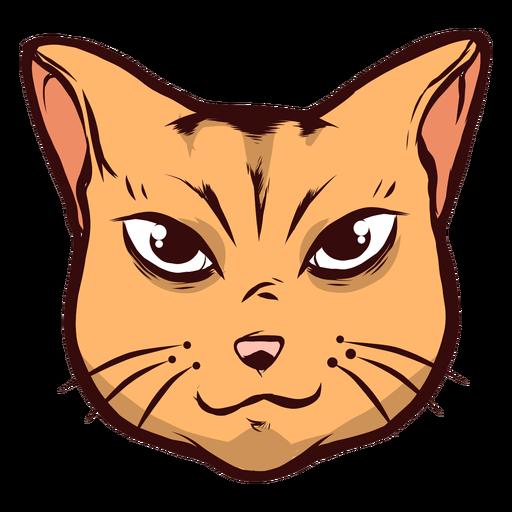 Cat muzzle attentive whisker ear illustration