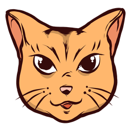 Gato bozal alegre alegre bigote oreja ilustración