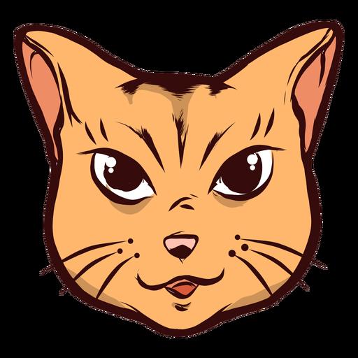 Cat muzzle joyful glad whisker ear illustration
