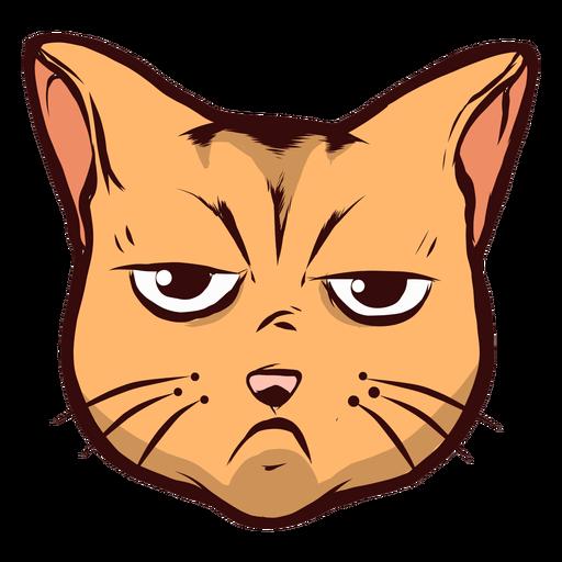 Cat muzzle sad sadness whisker ear illustration