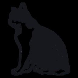 Doodle de piel de raya de boca de gato