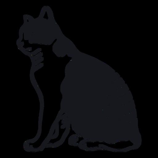 Cat muzzle stripe fur doodle