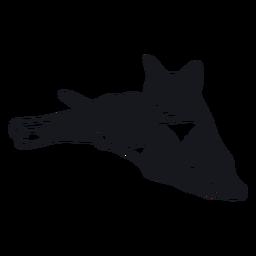 Bozal de gato raya cola piel doodle