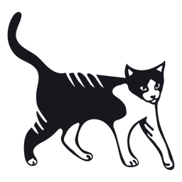Doodle de pêlo de gato rabo de cauda de focinho