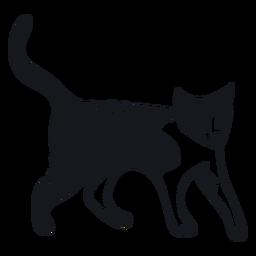 Gato hocico cola raya piel doodle