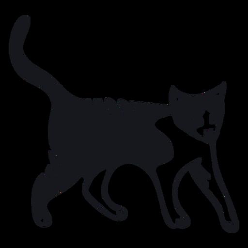 Cat muzzle tail stripe fur doodle