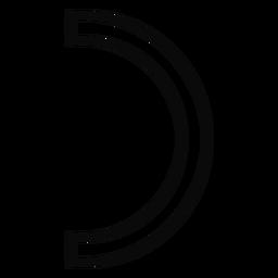 Traço de arco trela arco
