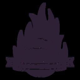 Distintivo de bola de fogo de chama de campeonato